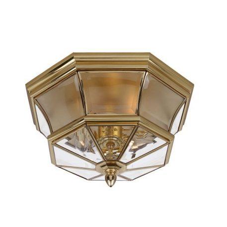 Newbury Plafon – Plafony – kolor mosiądz, transparentny, złoty