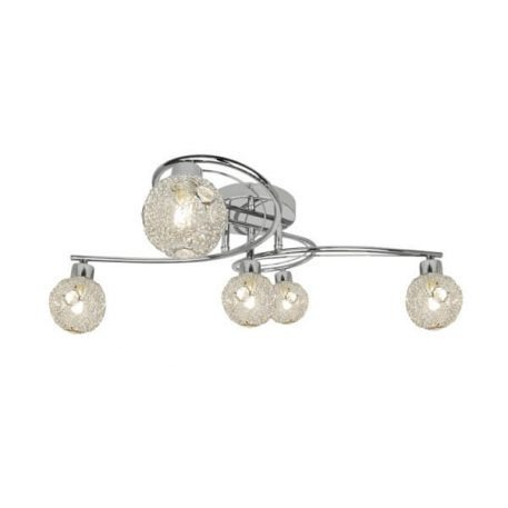 Nicola  Lampa sufitowa – szklane – kolor srebrny