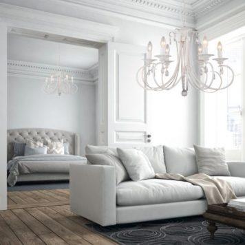 Novia Żyrandol – Świecznikowe – kolor biały