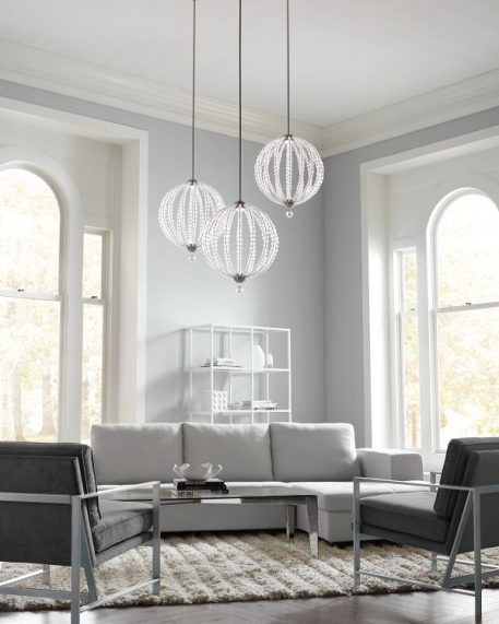 Oberlin Lampa wisząca – Styl nowoczesny – kolor srebrny