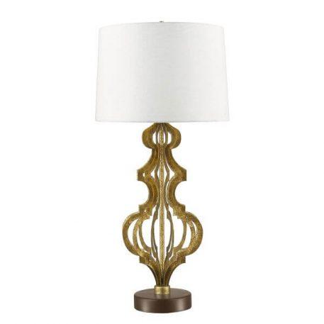 Octavia Lampa klasyczna – klasyczny – kolor beżowy, biały, złoty