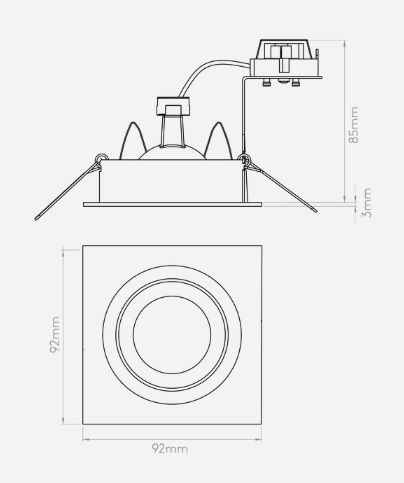 Oczko/spot - szczotkowane aluminium - Astro