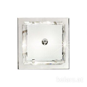 Ontario  Plafon – Styl glamour – kolor srebrny, transparentny