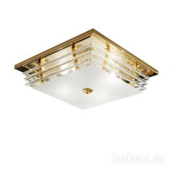 Ontario  Plafon – Styl glamour – kolor transparentny, złoty