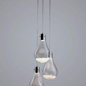 Optica  Lampa wisząca – szklane – kolor srebrny, transparentny