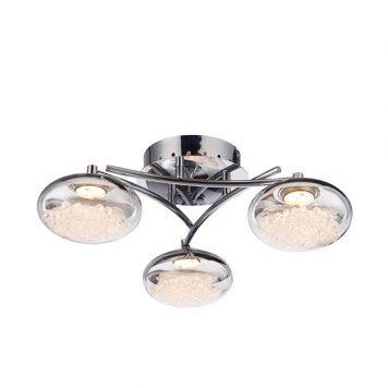 Oria Lampa wisząca – kryształowe – kolor srebrny