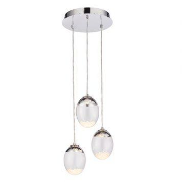 Oria  Lampa wisząca – Styl nowoczesny – kolor srebrny, transparentny
