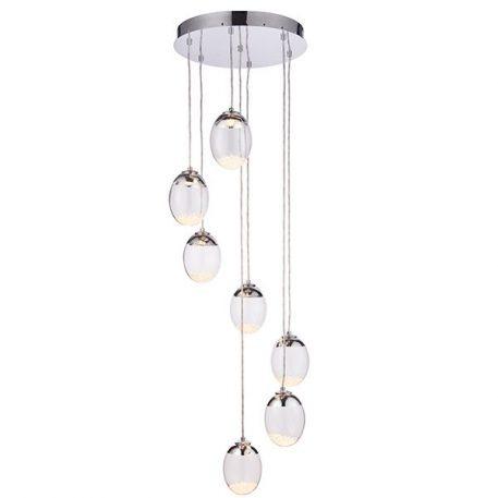 Oria  Lampa wisząca – szklane – kolor srebrny, transparentny