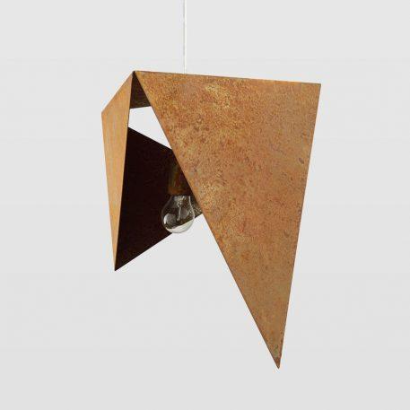Origami Lampa wisząca – industrialny – kolor pomarańczowy