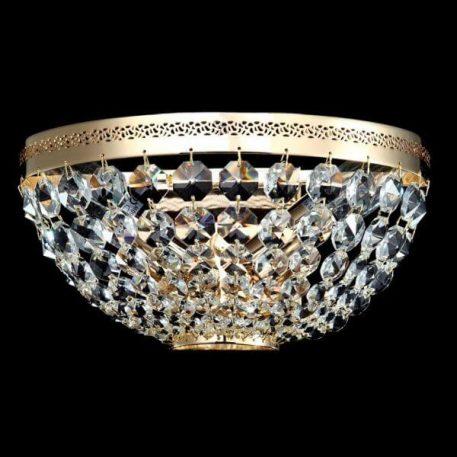 Ottilia Plafon – klasyczny – kolor transparentny, złoty