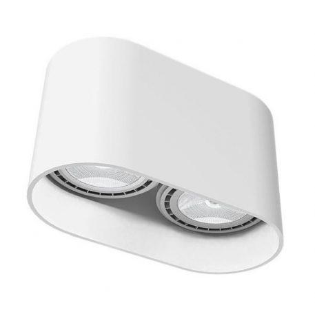 Oval  Oczko/spot – Styl nowoczesny – kolor biały