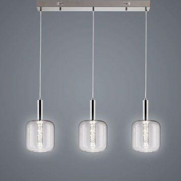 Pacyfik  Lampa wisząca – Styl nowoczesny – kolor srebrny, transparentny