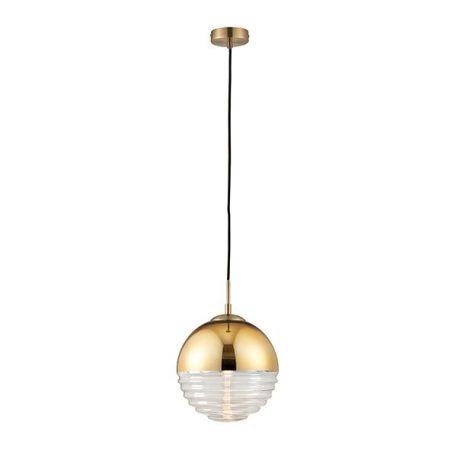 Paloma Lampa wisząca – szklane – kolor transparentny, złoty