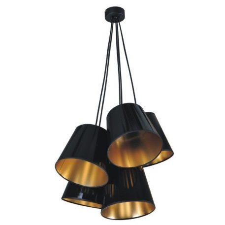Pamela Lampa wisząca – Z abażurem – kolor złoty, Czarny
