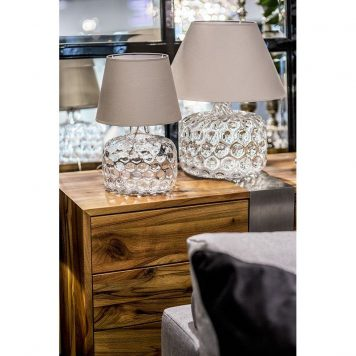 Paris  Lampa nowoczesna – Z abażurem – kolor beżowy, transparentny