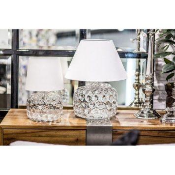 Paris  Lampa stołowa – Styl modern classic – kolor biały, transparentny