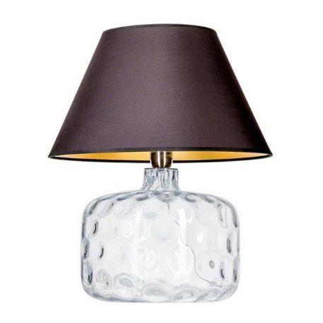 Paris  Lampa stołowa – Z abażurem – kolor transparentny, złoty, Czarny