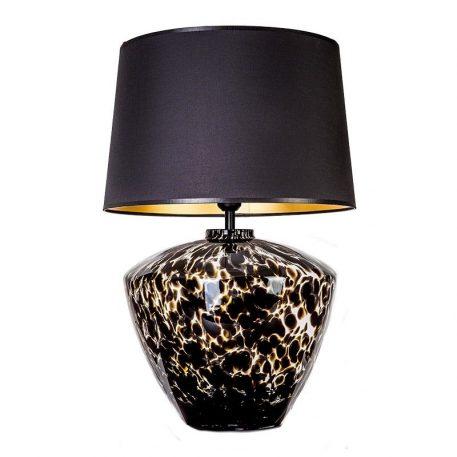 Parma   Lampa nowoczesna – szklane – kolor beżowy, połysk, Czarny