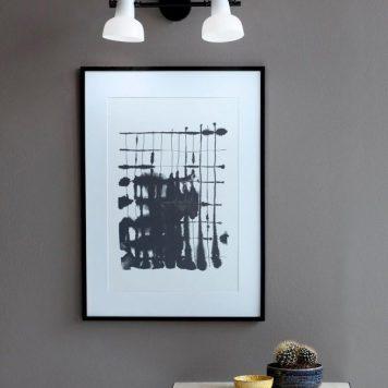 Parson Lampa nowoczesna – szklane – kolor biały, Czarny