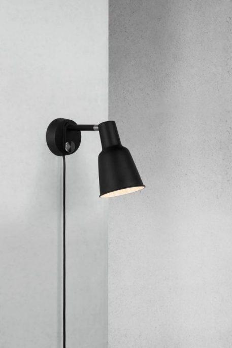 Patton Lampa skandynawska – industrialny – kolor Czarny