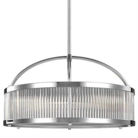 Paulson Lampa wisząca – Styl nowoczesny – kolor srebrny, transparentny