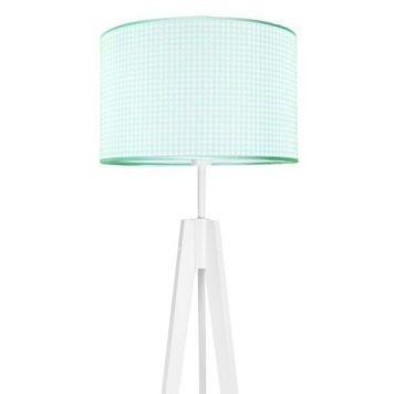 Pepitka  Lampa skandynawska – Z abażurem – kolor biały, Niebieski