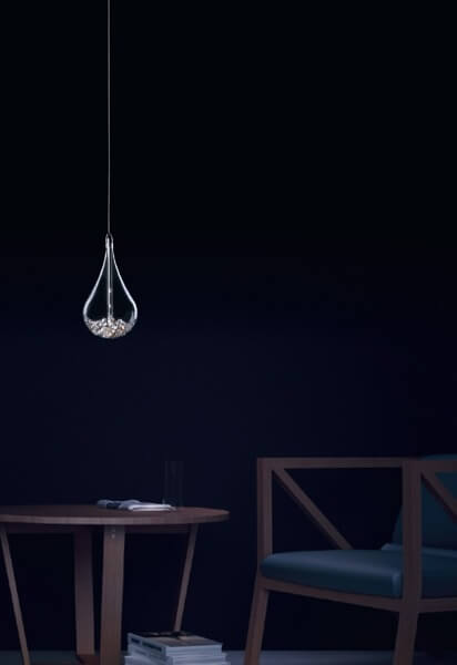 Perle Lampa wisząca – Styl glamour – kolor transparentny