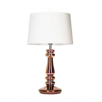 Petit Trianon Lampa modern classic – Styl glamour – kolor biały, miedź