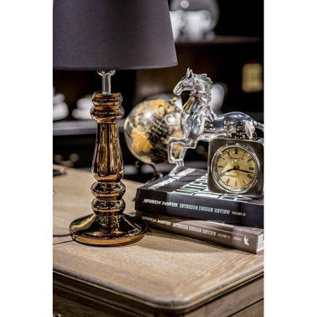 Petit Trianon Lampa modern classic – Styl glamour – kolor miedź, połysk, Czarny