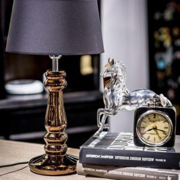 Petit Trianon Lampa modern classic – szklane – kolor miedź, Czarny