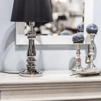 Petit Trianon Lampa modern classic – szklane – kolor srebrny, Czarny