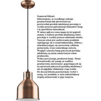 Petra Lampa wisząca – industrialny – kolor miedź