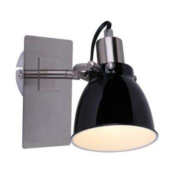 Pictor  Lampa nowoczesna – Do czytania – kolor srebrny, Czarny