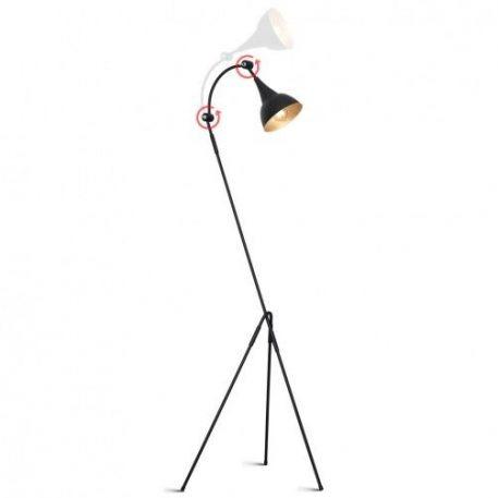 Piko  Lampa podłogowa – Styl nowoczesny – kolor Czarny