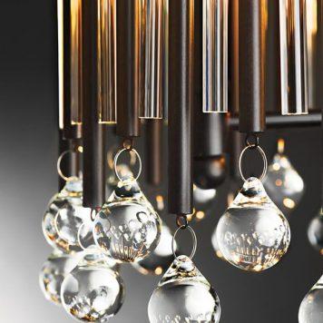 Piper Kinkiet – kryształowe – kolor brązowy