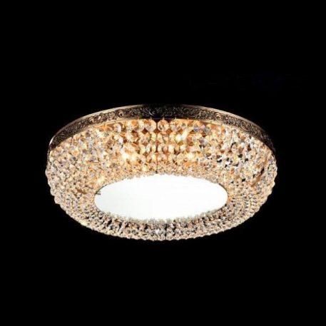 Plafon - antyczne złoto, szkło - Maytoni