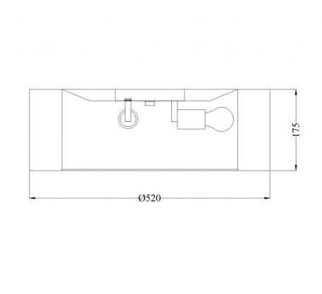 Plafon - MOD617CL-04GR