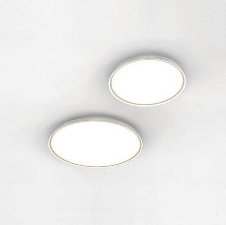 Plafon - opalizujące szkło, biały metal - Nordlux