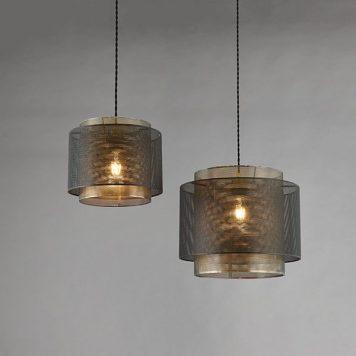 Plexus Lampa wisząca – industrialny – kolor złoty, Czarny