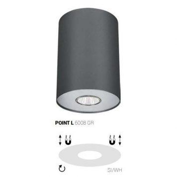 Point Oczko/spot – Styl nowoczesny – kolor Szary