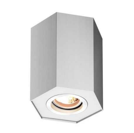 Polygon Lampa sufitowa – Oczka sufitowe – kolor srebrny