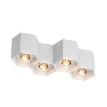 Polygon Lampa sufitowa – Styl nowoczesny – kolor biały