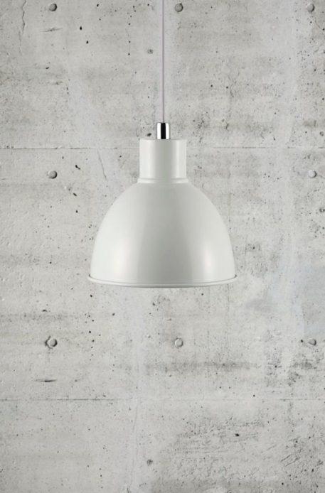 Pop Lampa wisząca – industrialny – kolor biały