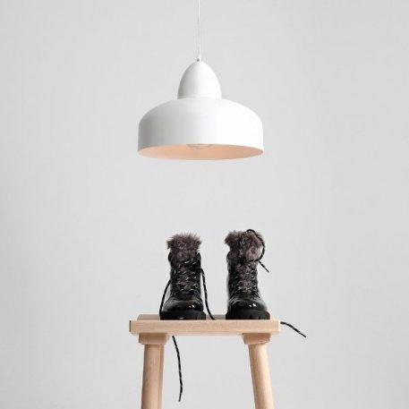 Poppo  Lampa wisząca – Styl skandynawski – kolor biały