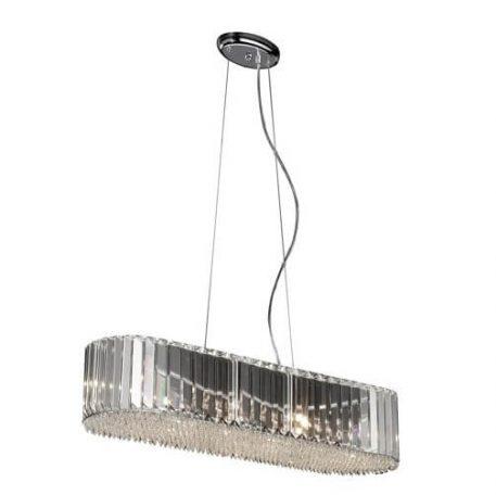 Prince Lampa wisząca – Styl glamour – kolor srebrny, transparentny