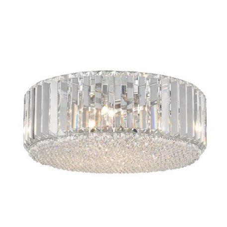 Prince Plafon – kryształowe – kolor srebrny, transparentny