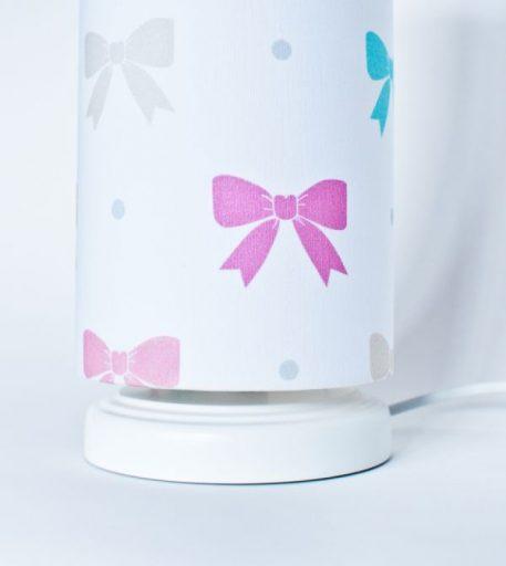 Princess Kokardy Lampa stołowa – Z abażurem – kolor biały
