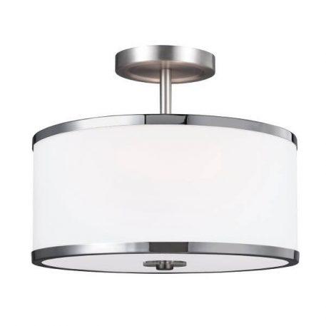 Prospect Park Lampa sufitowa – szklane – kolor biały, srebrny
