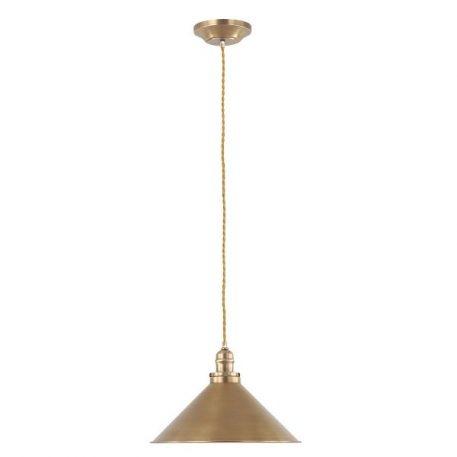 Provence Lampa wisząca – industrialny – kolor mosiądz