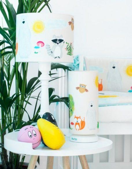 Przyjaciele Lasu Lampa stołowa – Z abażurem – kolor biały
